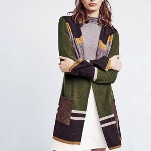 Anthro Angel of the North cardigan mixed stripe SM
